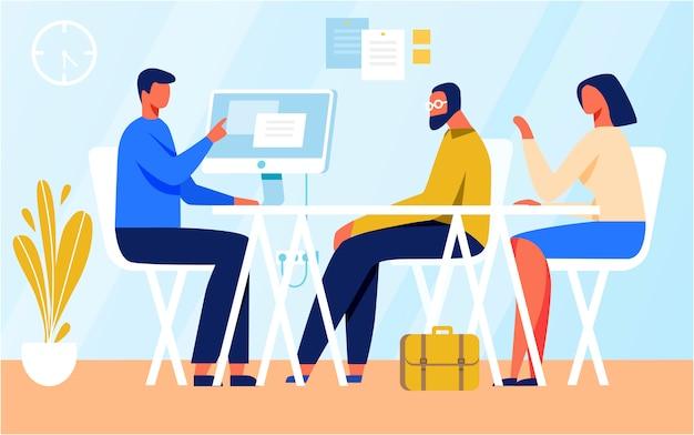 Personaggi dei cartoni animati in illustrazione riunione