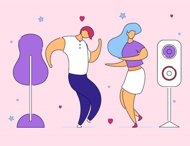 Personaggi dei cartoni animati piatto moderno colorato.
