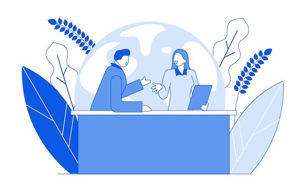 Personaggi dei cartoni animati piatto moderno persone che parlano