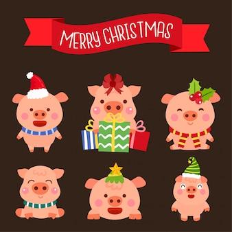 Personaggi dei maiali dei cartoni animati
