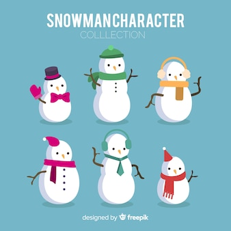 Personaggi di pupazzo di neve