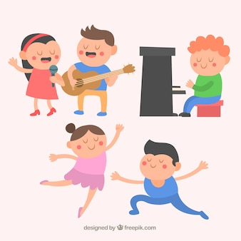 Personaggi di talento nizza in stile cartone animato