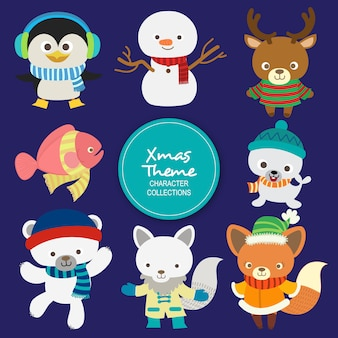 Personaggi natalizi invernali di lala