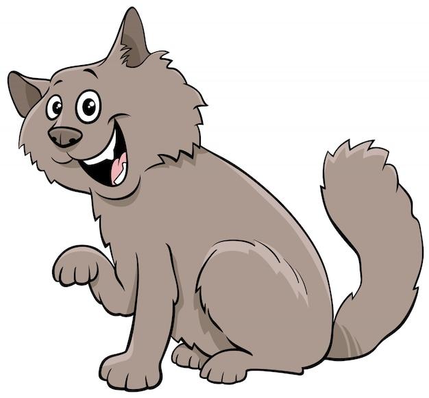 Personaggio animale del fumetto lanuginoso gatto