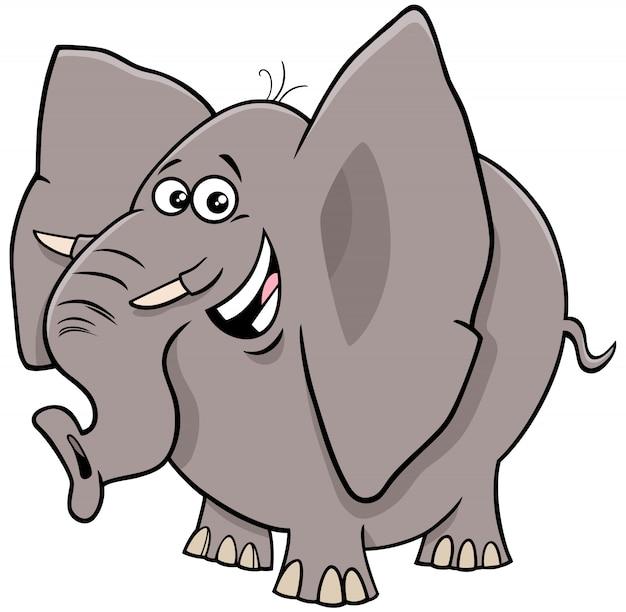 Personaggio animale fumetto comico elefante
