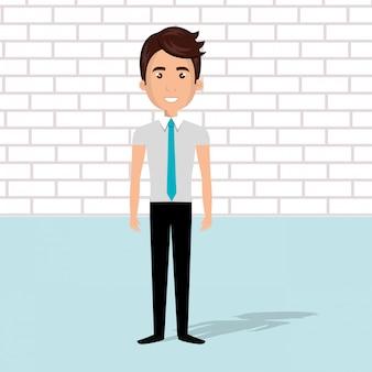 Personaggio avatar uomo d'affari