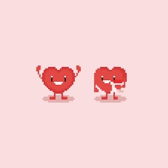 Personaggio cuore di pixel