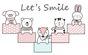 Personaggio dei cartoni animati animali bambino carino