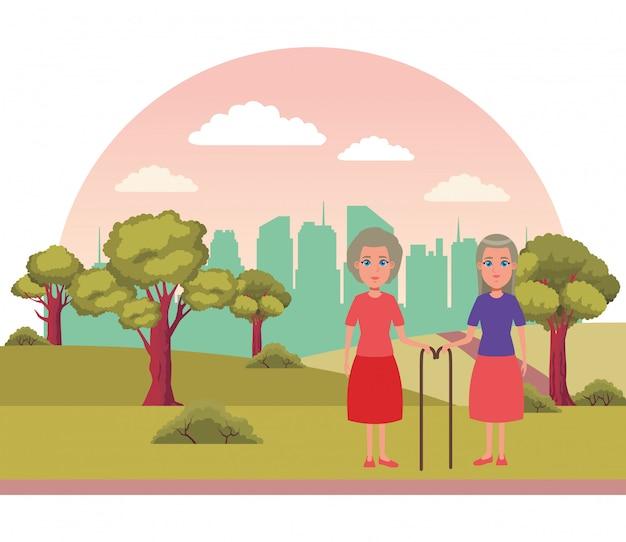 Personaggio dei cartoni animati avatar anziani