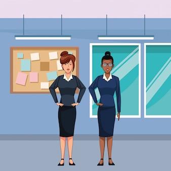 Personaggio dei cartoni animati avatar imprenditrici