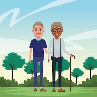 Personaggio dei cartoni animati avatar persone anziane