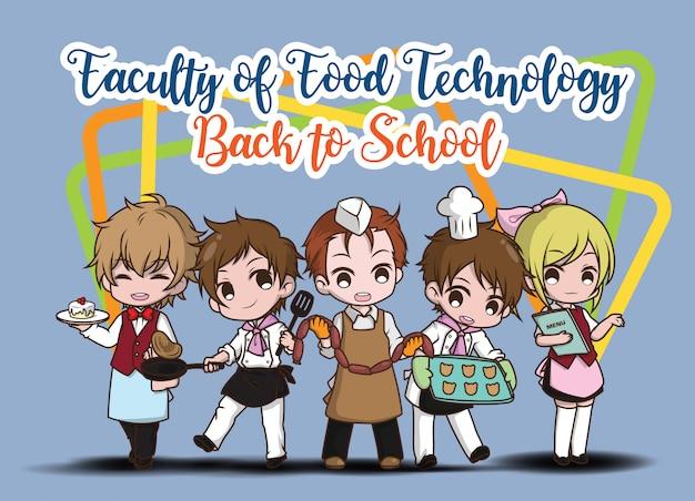 Personaggio dei cartoni animati carino studente.
