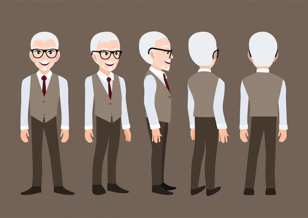 Personaggio dei cartoni animati con un uomo d'affari.