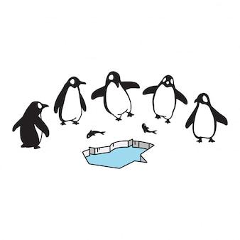 Personaggio dei cartoni animati del pinguino iceberg dell'uccello