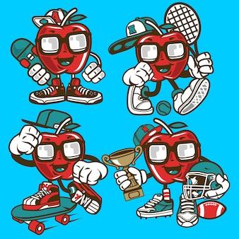 Personaggio dei cartoni animati di apple