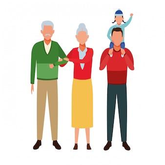 Personaggio dei cartoni animati di avatar di famiglia