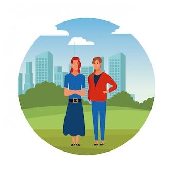 Personaggio dei cartoni animati di avatar donne