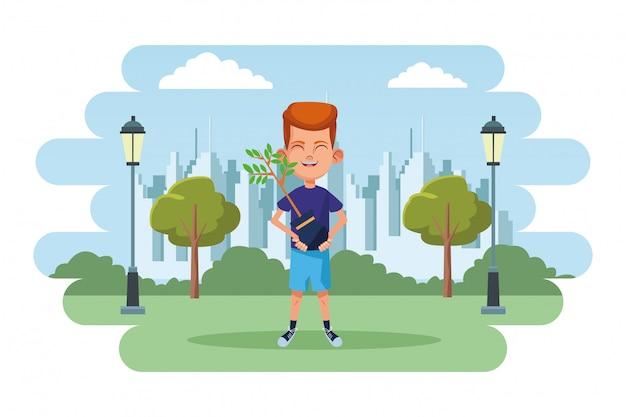 Personaggio dei cartoni animati di avatar ragazzino