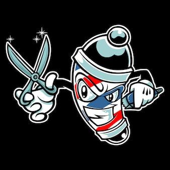 Personaggio dei cartoni animati di barber pole