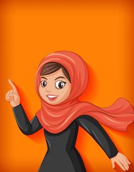 Personaggio dei cartoni animati di bella signora araba