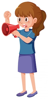 Personaggio dei cartoni animati di contestatore femminile