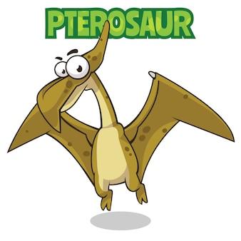 Personaggio dei cartoni animati di dinosauro pterosauro