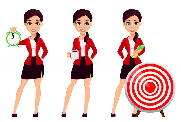 Personaggio dei cartoni animati di donna d'affari