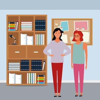 Personaggio dei cartoni animati di donne avatar