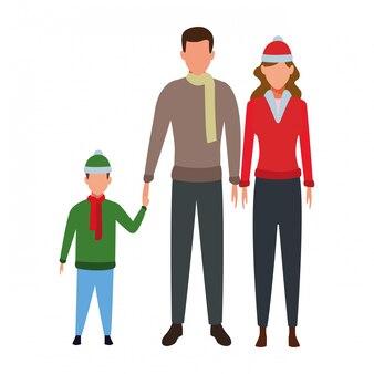 Personaggio dei cartoni animati di famiglia avatar