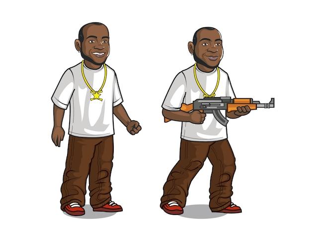 Personaggio dei cartoni animati di giovane gangster