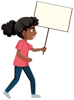 Personaggio dei cartoni animati di manifestanti anti-razzismo