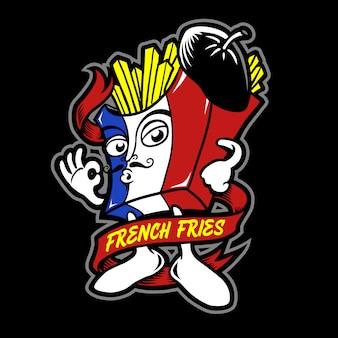 Personaggio dei cartoni animati di patatine fritte