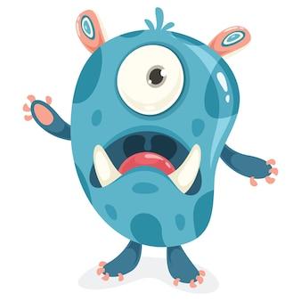 Personaggio dei cartoni animati di piccolo mostro divertente