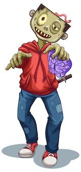 Personaggio dei cartoni animati di zombie maschile