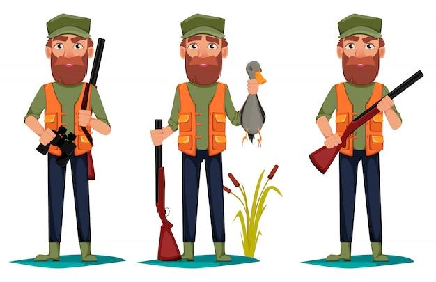 Personaggio dei cartoni animati hunter uomo