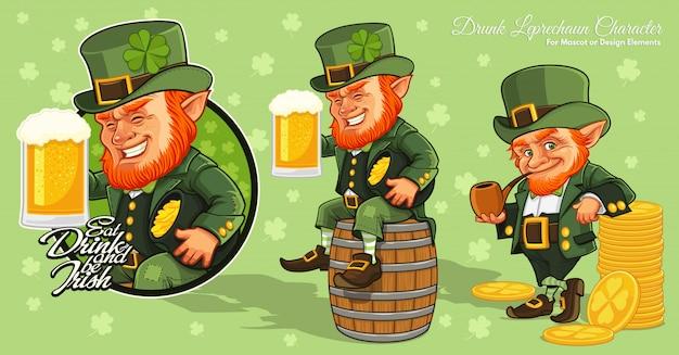 Personaggio dei cartoni animati leprechaun, st.patrick's day