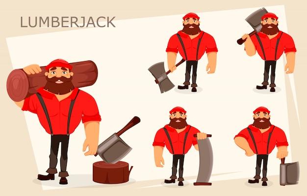 Personaggio dei cartoni animati lumberjack