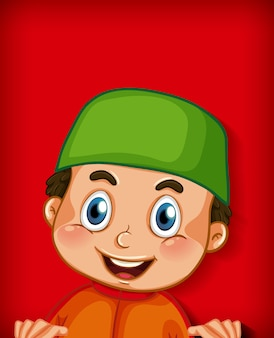 Personaggio dei cartoni animati musulmano maschio