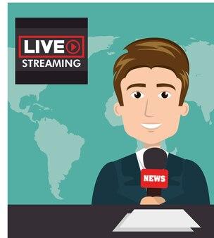 Personaggio del presentatore di notizie presentatore