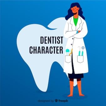 Personaggio dentale piatto