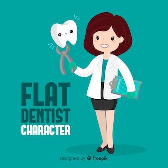 Personaggio dentista piatto