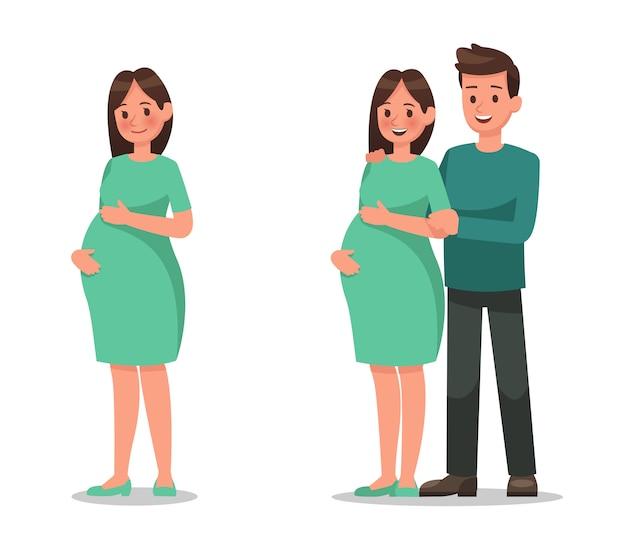Personaggio di donna incinta