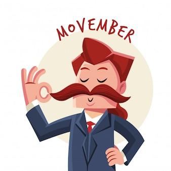 Personaggio di Movember da gentiluomo