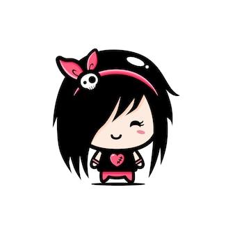 Personaggio di ragazza carina