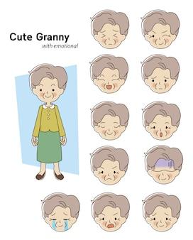 Personaggio donna anziana
