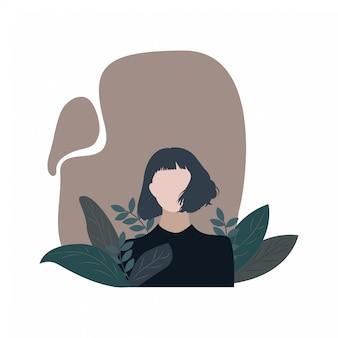 Personaggio femminile in natura. fatto a mano