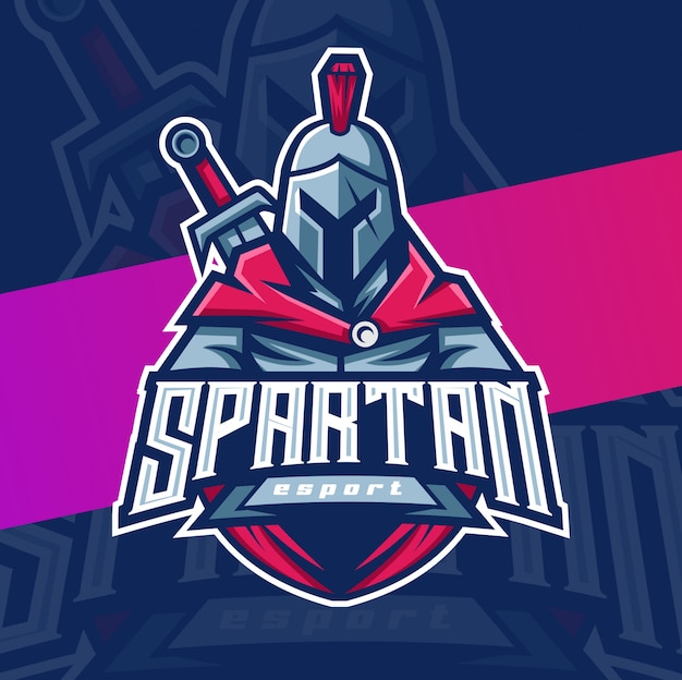 Personaggio mascotte spartano esport logo
