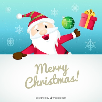 Personaggio natalizio con segno bianco