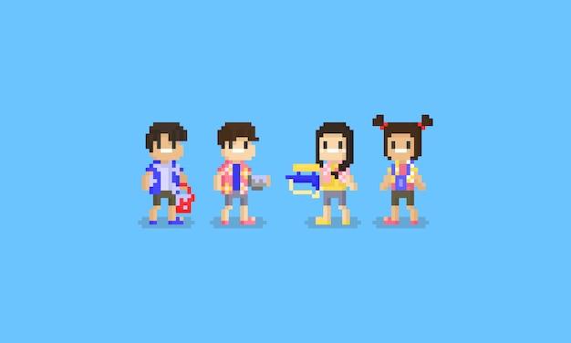 Personaggio pixel songkran