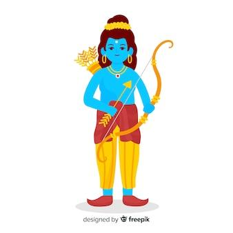 Personaggio rama con freccia e arco